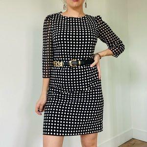 KARL LAGERFELD Black White Polka Dot Dress 6